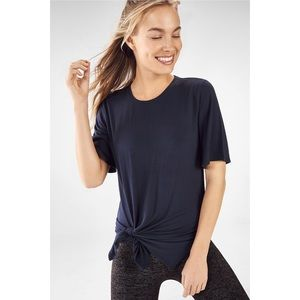 Fabletics Abyss Blue Alia Tied Knot Tee